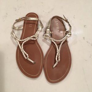 Ralph Lauren Braided Thong Sandals. Classy look!